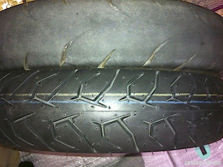 古タイヤと新品タイヤの比較