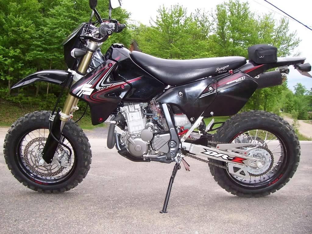 バイク 17インチのブロックタイヤを履いたdrz400sm カスタムライフ