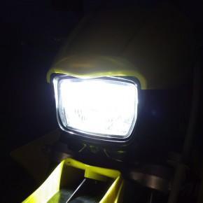 [250SB/Dトラ] ヘッドライトにJAFIRSTのHIDを装着
