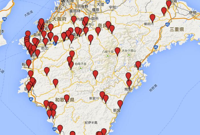 [ツーリング] 紀伊半島における交通違反取り締まりマップ