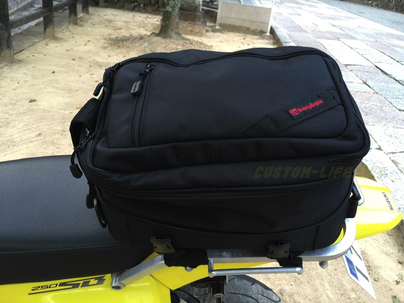 ツーリングバッグとしての「ヘンリービギンズの2WAYシートバッグ」