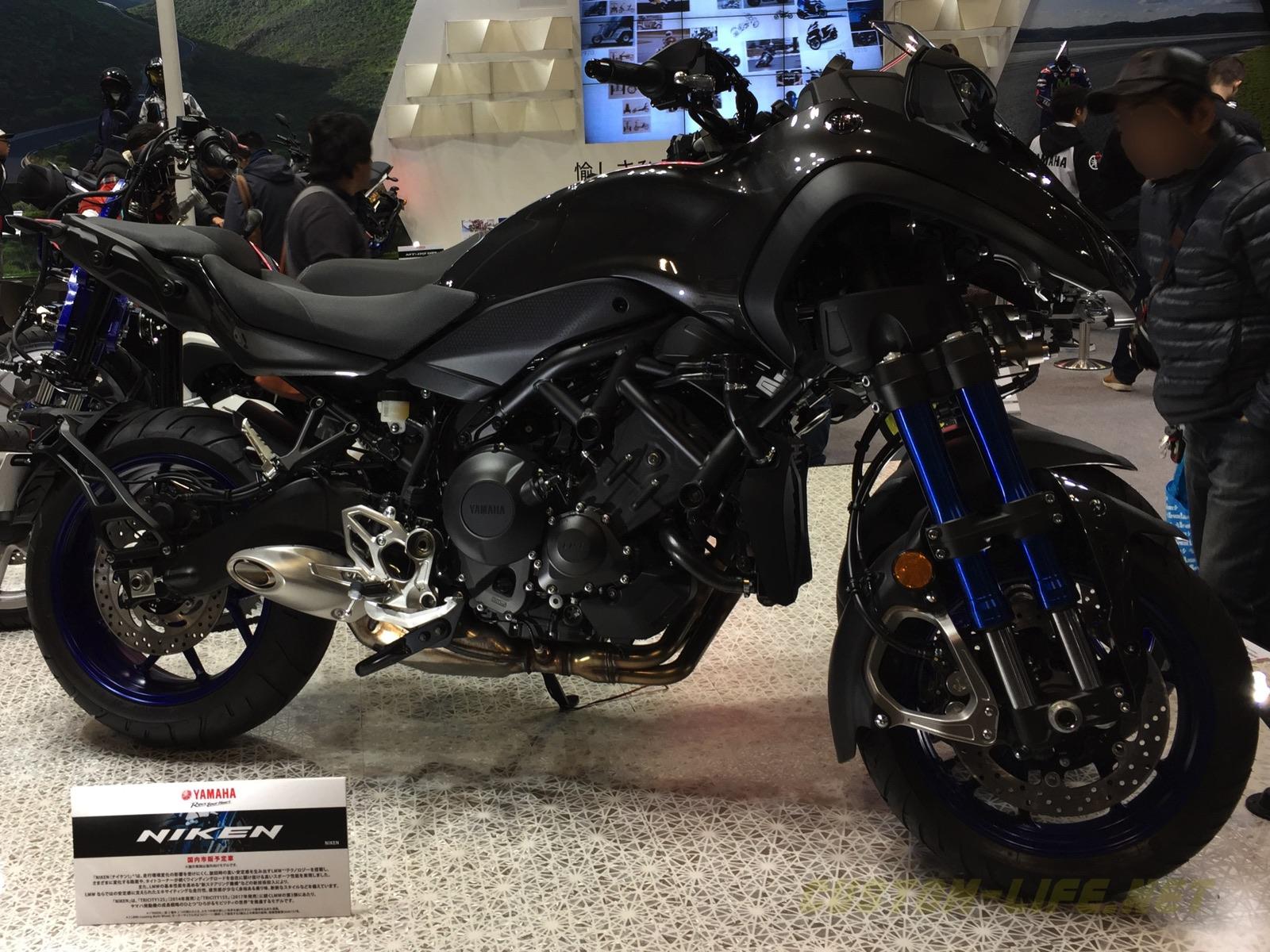 【モーサイ2018】ヤマハブース「NIKEN」「MT-09 SP」「Tracer GT」「XSR700」