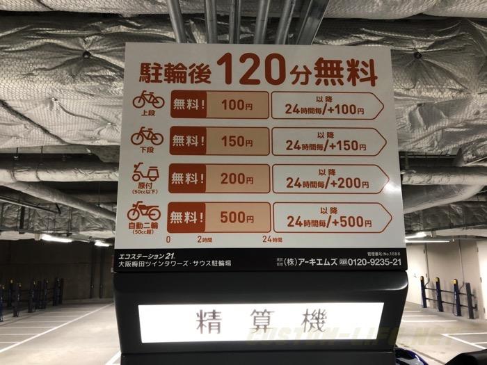 関西バイク乗り必見!大阪梅田にある地下バイク駐輪場